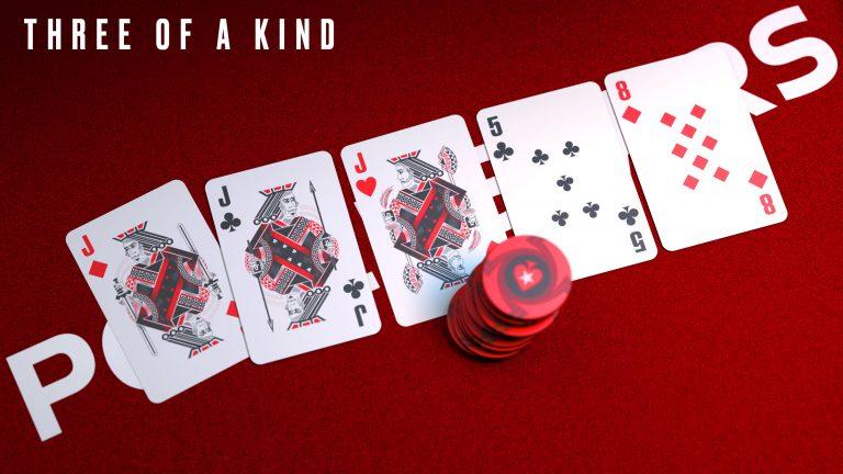 Bộ ba, tay bài chỉ cần 3 lá giống nhau khi chơi game bài Poker là được