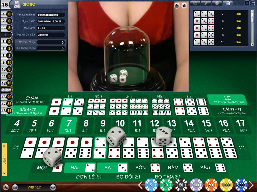 Cách chơi game tài xỉu online thắng hay không phụ thuộc vào cách thức cược mà bạn chọn