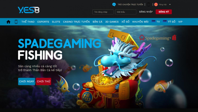 Yes8vn là nhà cái uy tín để bạn chơi game bắn cá đổi thưởng online thắng lớn