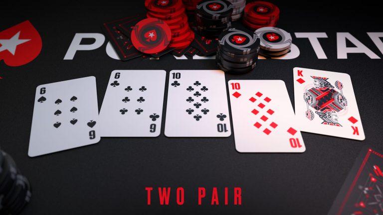 Hai đôi, tay bài có độ mạnh đứng thứ 8 khi chơi game bài Poker đổi thưởng
