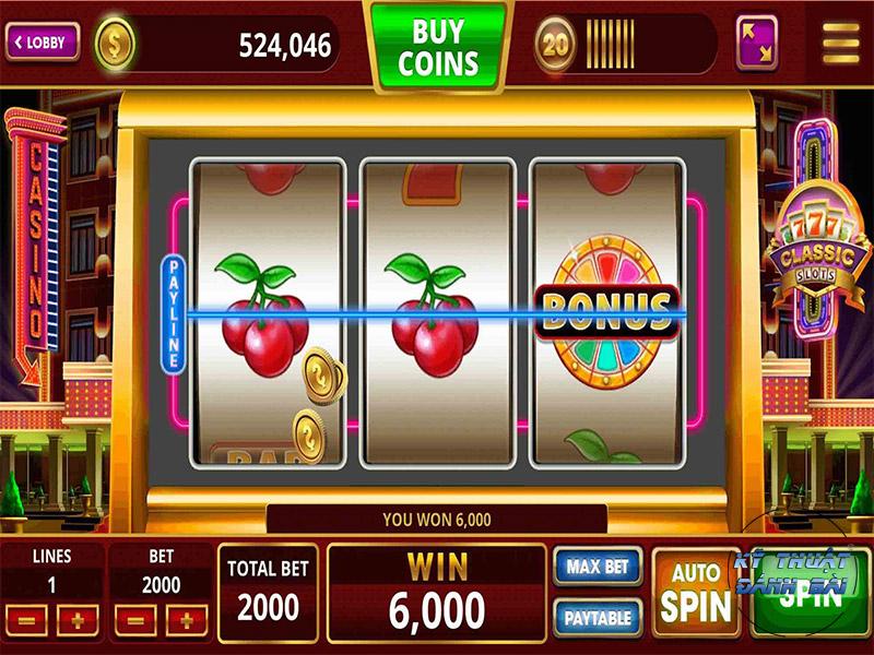 Một số nút với ký hiệu trong slot game online