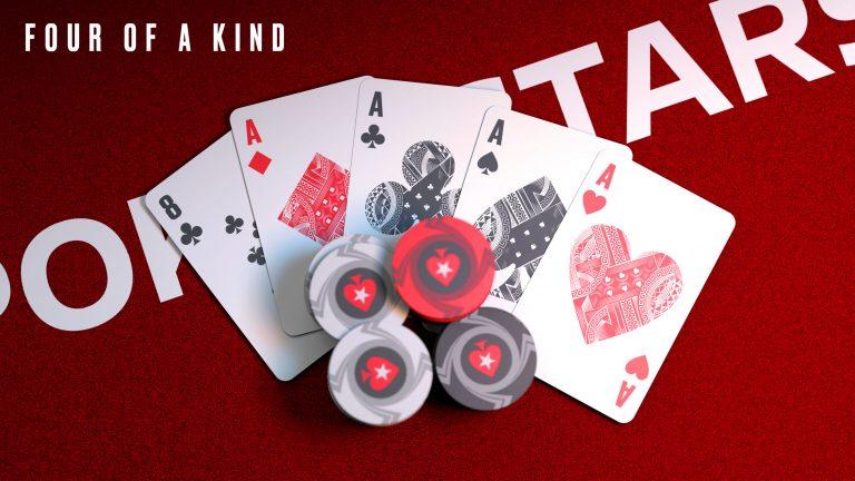 Tứ quý trong game bài poker đổi thưởng tương tự như trong Tiến lên