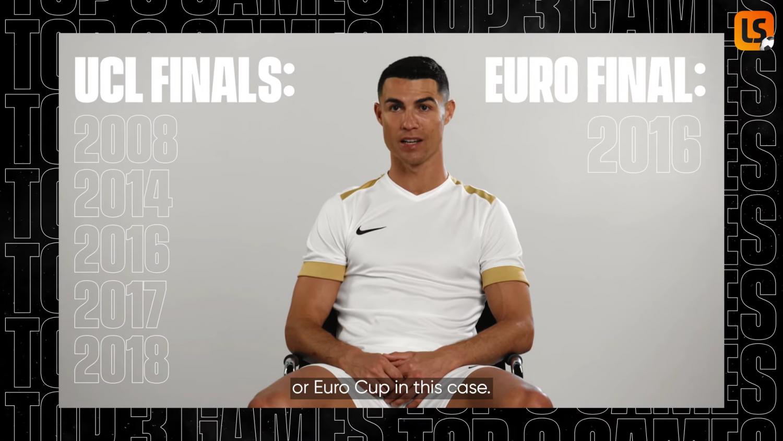 Hai trận đấu định hình sự nghiệp của Ronaldo là: trận chung kết UEFA Champions League và Giải vô địch bóng đá châu Âu UEFA 2016 với Bồ Đào Nha