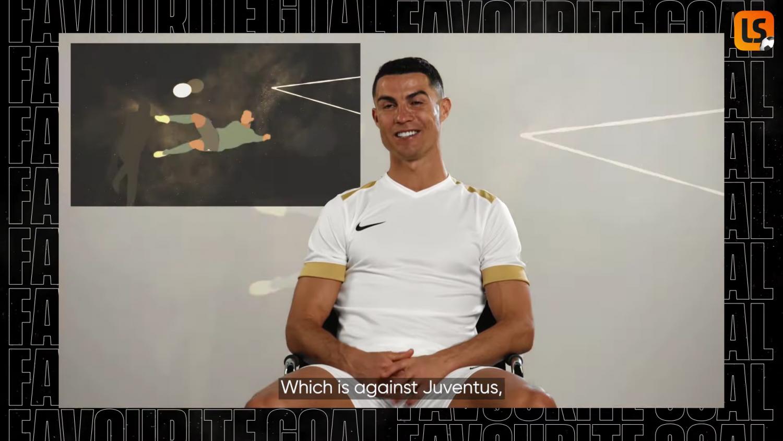 Cú ngả người móc bóng trong trận lượt đi tứ kết Champions League là bàn thắng yêu thích nhất của Ronaldo