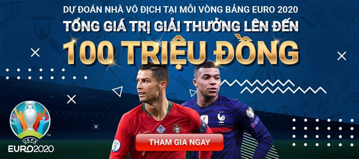 Dự đoán vòng bảng Euro 2020 cùng Yes8vn, rinh ngay 100 triệu về nhà