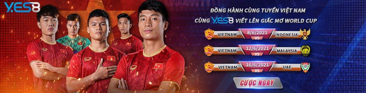 Cùng Yes8vn đồng hành với đội tuyển bóng đá Việt Nam viết nên giấc mơ World Cup
