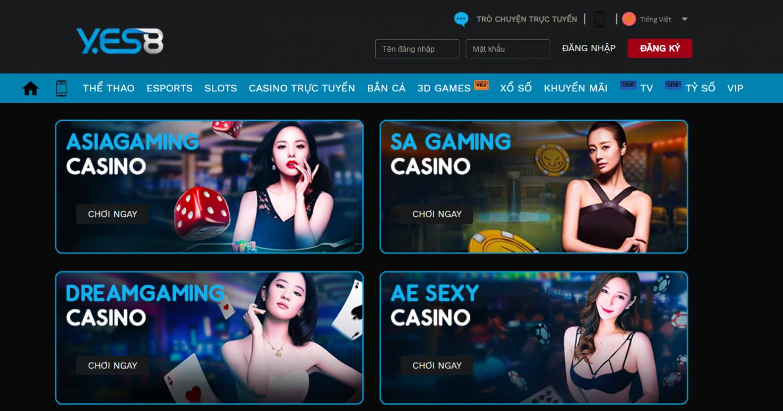 Yes8vn là lựa chọn hàng đầu để bạn chơi đánh bài Baccarat trực tuyến