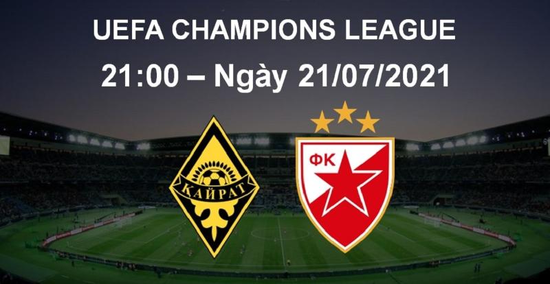 Soi kèo K. Almaty – FK Crvena Zvezda