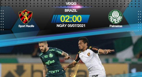Soi kèo Recife – Palmeiras vào 2h00 ngày 5/7/2021 cực chuẩn