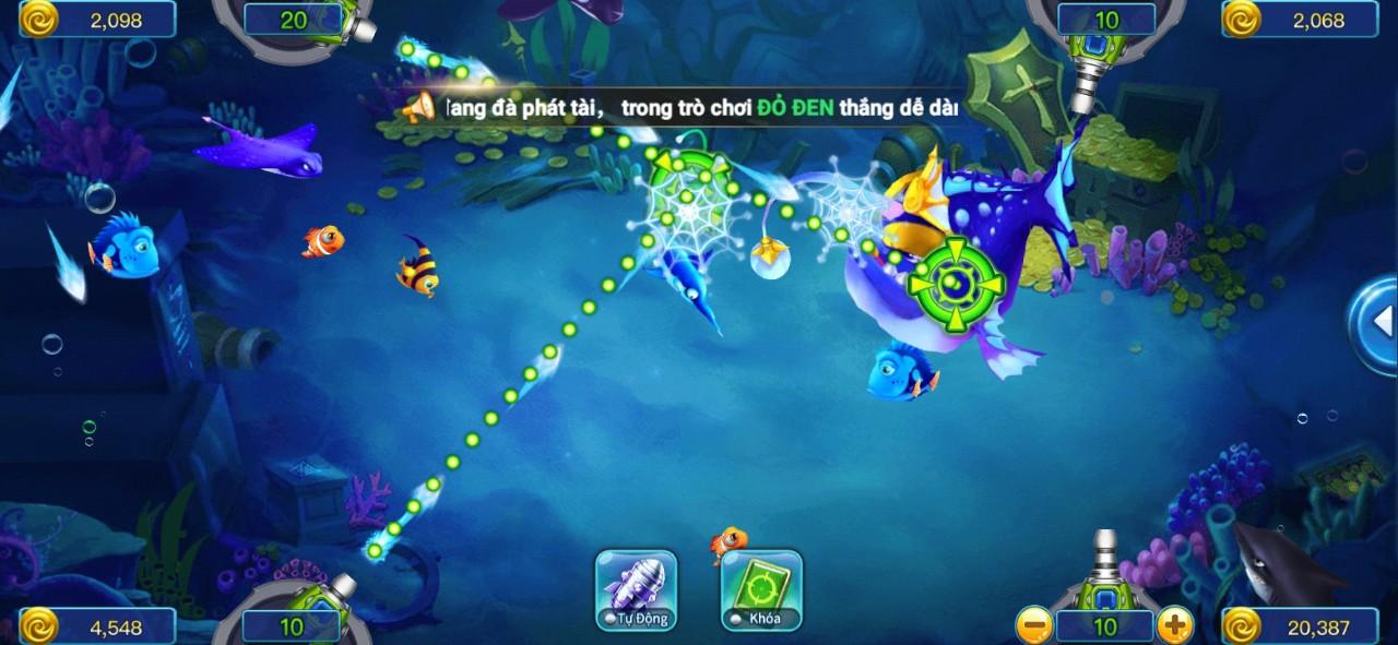 Sử dụng cách bắn đạn băng bi khi chơi game bắn cá online