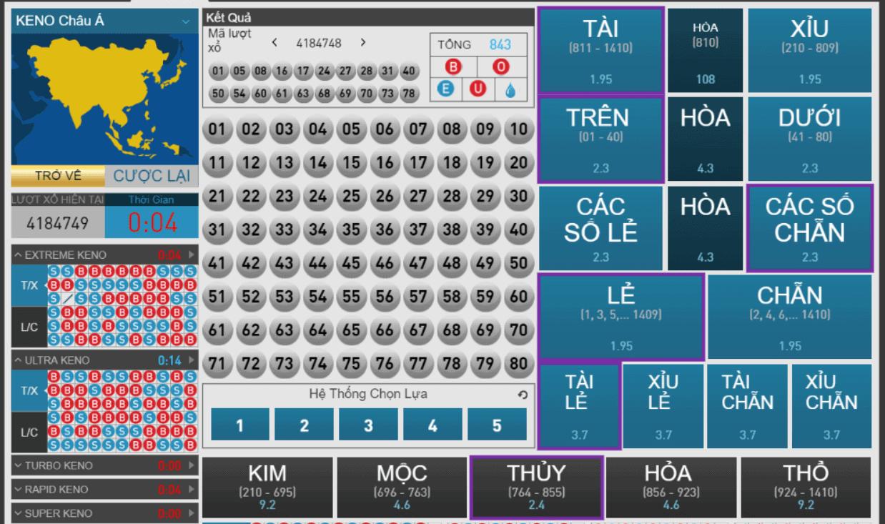 Nắm rõ về quy định cách chơi xổ số Keno online
