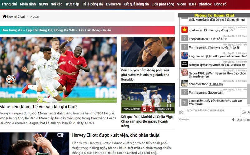 Cập nhật tin tức bóng đá cực kỳ nhanh, chính xác