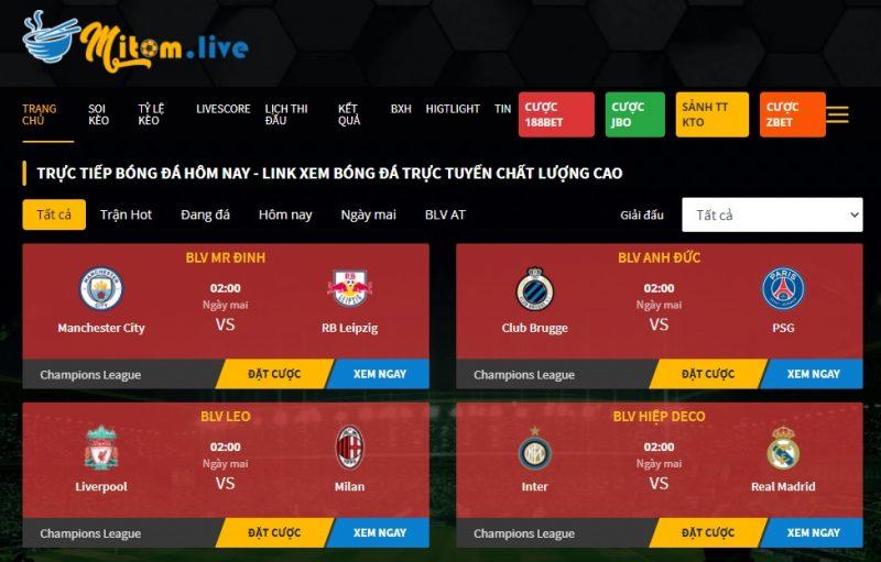 Mitom.live - Chuyên trang trực tiếp bóng đá đỉnh cao