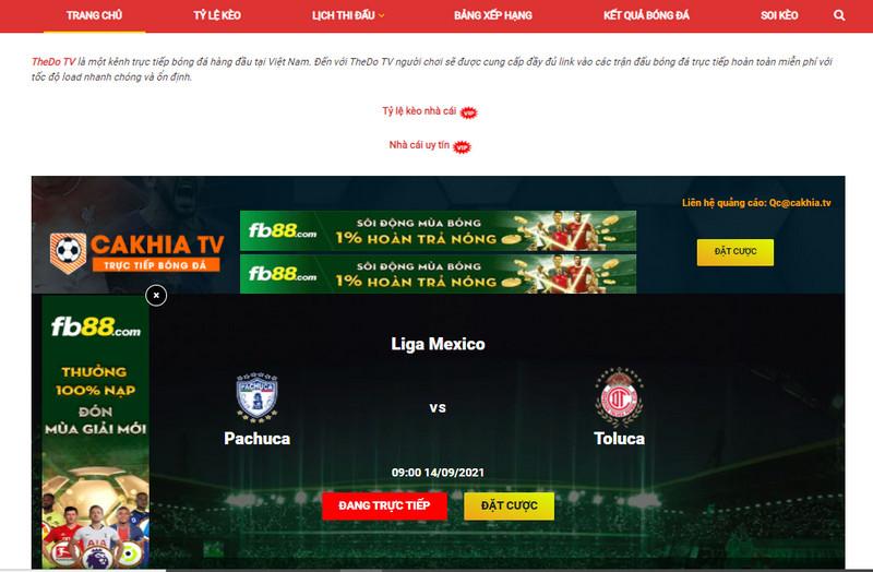 Thẻ Đỏ TV là địa chỉ xem trực tiếp bóng đá chất lượng cao