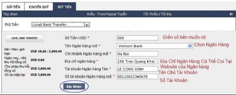 Điều Kiện Và Cách Rút Tiền M88 Về Việt Nam